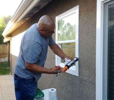 Installation vinyl replacement windows